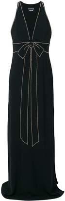 Moschino bow stud detail dress