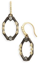 Armenta Women's Old World Octagonal Diamond & Sapphire Drop Earrings