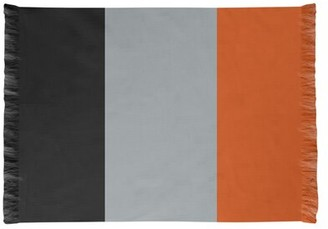 Baltimore Flatweave Black/Gray/Orange Rug East Urban Home Non-Skid Pad Included: No