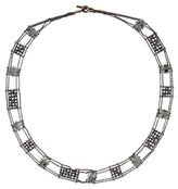Moritz Glik 18K Prasiolite and Diamond Necklace