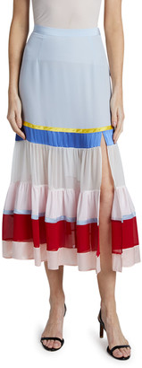 Altuzarra Jib Colorblocked Flounce Skirt