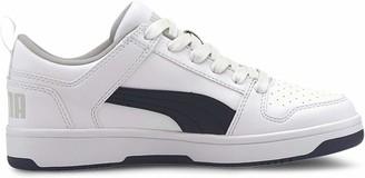 Puma Kids' Rebound Layup LO SL JR Sneaker White-Peacoat-Gray Violet