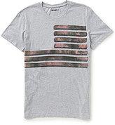 William Rast Camo Flags Short-Sleeve Crew Neck Graphic Tee