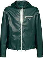 Prada Nappa leather hooded jacket