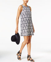 Maison Jules Printed Sleeveless Shift Dress, Only at Macy's