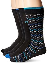 Perry Ellis Men's 4 Pack Soft Luxury Herringbone Basic Socks