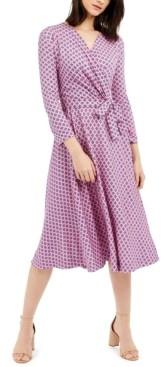 Max Mara Printed Faux-Wrap Dress
