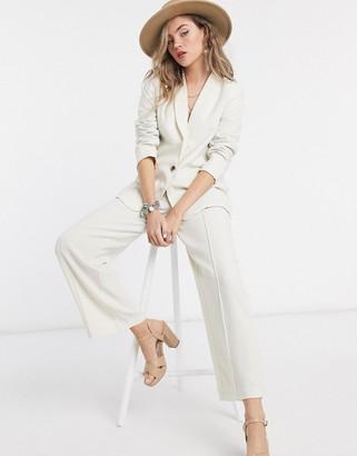 Vila suit jacket in white