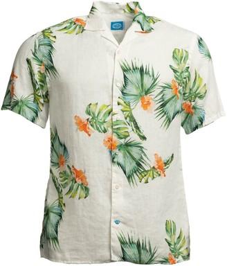 Panareha Honolulu Linen Aloha Shirt White
