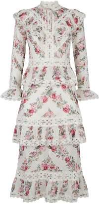 Zimmermann Floral Ruffle Dress