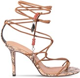 Isabel Marant 95MM ADEIA SUEDE LACE-UP THONG SANDALS