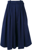 Golden Goose Deluxe Brand full midi skirt - women - Cotton/Spandex/Elastane/Wool - S