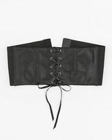 Le Château Leather-Like Corset Belt