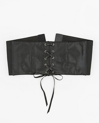 Le Château Faux Leather Corset Belt