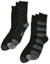 Kenneth Cole 6-Pack Printed Crew Socks