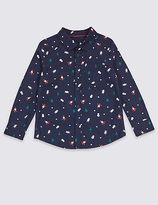 Marks and Spencer Pure Cotton All Over Santa Print Shirt (3 Months - 6 Years)