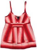 Marc by Marc Jacobs Pink & Red Striped Silk Tank