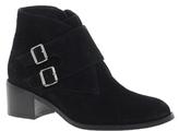 Sandbanks Black Suede Buckle Ankle Boots - Black