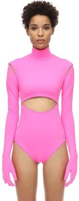 Vetements Lycra Bodysuit W/ Cut-Outs