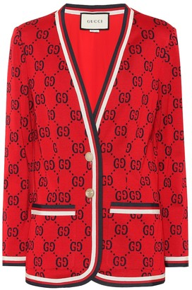 Gucci Intarsia cotton cardigan