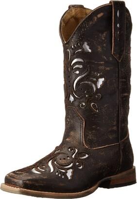 Roper Belle Square Toe Cutout Cowboy Boot (Toddler/Little Kid)