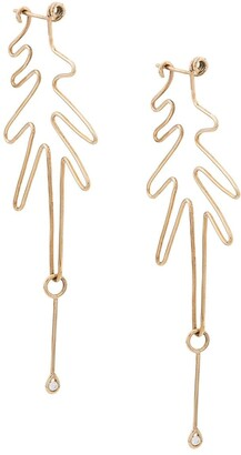 3.1 Phillip Lim Origin 9kt yellow gold Wired earrings