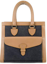 Christian Dior Leather-Trimmed Denim Bag