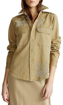 Polo Ralph Lauren Beaded Twill Shirt