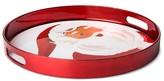 Threshold Santa Round 13.6in Plastic Serving Tray Metallic Red