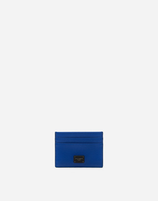 Dolce & Gabbana Dauphine Calfskin Credit Card Holder With Logo Plaque