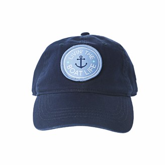 Pavilion Gift Company Livin' The Boat Life-One Size Fits Most Lake Or Beach Adjustable Snapback Bas