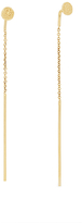 Diane von Furstenberg Gold Disc Linear Pull Through Earring