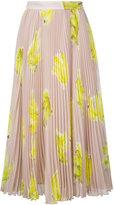 MSGM banana print pleated skirt - women - Polyester - 40