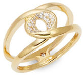 Nadri Goldtone Crystal Pave Ring
