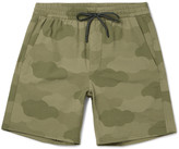 A.p.c. - + Outdoor Voices Wide-leg Camouflage-print Ripstop Shorts