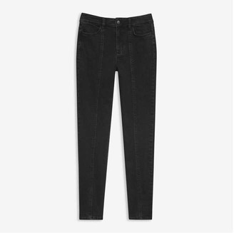 Joe Fresh Women's Black High-Waist Jeans, Black (Size 27)