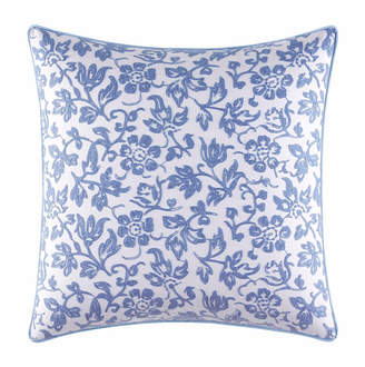 Laura Ashley Adley Blue Embroidered Square Pillow Bedding