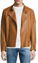Salvatore Ferragamo Napa Leather Moto Jacket, Tan
