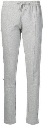 Alexandre Vauthier Jewelled Fleece Trousers