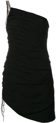 Saint Laurent One-Shoulder Mini Dress