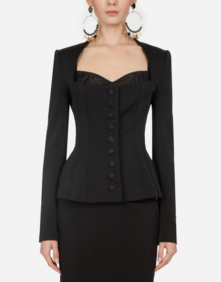 Dolce & Gabbana Single-Breasted Jacket In Faille