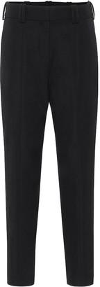 Balmain Wool high-rise tapered pants