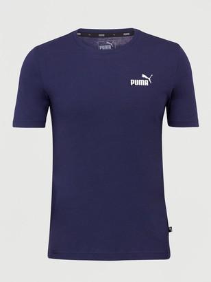Puma Small Logo Tee - Navy