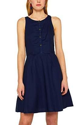 Esprit edc by Women's 049CC1E013 Dress, White 1, (Herstellergröße: 38)