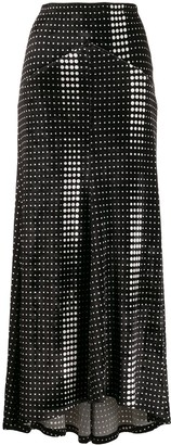 Paco Rabanne Dotted Satin Skirt