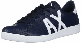 Armani Exchange A|X Men's Action Leather + PU Calf Lace Up Sneaker