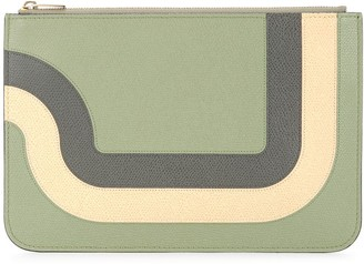 Valextra Colour-Block Zipped Wallet