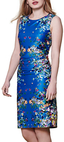 Yumi Floral Mirrored Jersey Dress, Blue