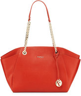 Furla Julia Medium Leather Tote Bag, Maple
