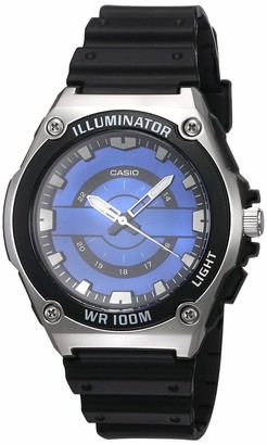 Casio Men's Blue Dial Quartz Plastic Strap